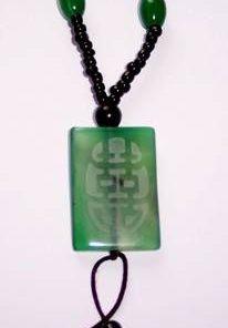 Colier unisex cu simbolul dublei fericiri din agat
