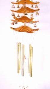 Clopotel Feng Shui - 5 acoperisuri si 5 tuburi goale -