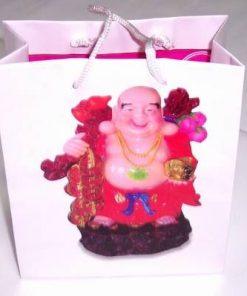 Punguta din hartie lucioasa cu Buddha razand