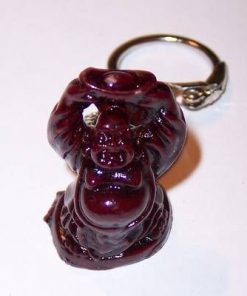 Breloc - Buddha razand tanand o pepita deasupra capului