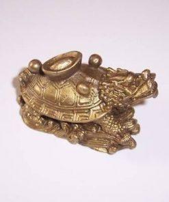 Testoasa Dragon cu pepita in spate - din metal