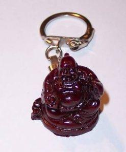 Breloc - Buddha razand cu sac in spate