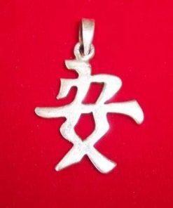 Pandantiv din argint reprezentand ideograma pacii