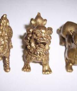 Cei trei gardieni divini din metal cei 3 lei pt steaua 3