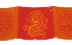 Platou Feng Shui cu dragon si ideogramele longevitatii