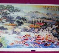 Tablou Feng Shui cu cei 100 de crapi norocosi