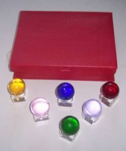 Set de 6 sfere colorate - remediu Feng Shui