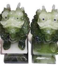 Pereche de Pi Xie  de jad industrial