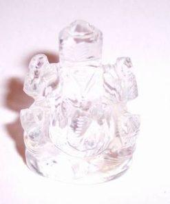 Zeul Ganesh din cristal de stanca - remediu Feng Shui