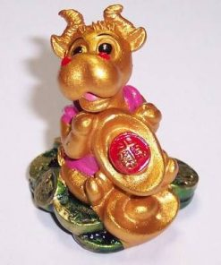 Bivolul Norocos cu pepite si monede - remediu Feng Shui