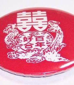 Insigna Feng Shui cu Pasarea Phoenix si Dragonul