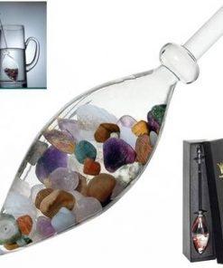 Bagheta din sticla cu cele 5 elemente din cristal