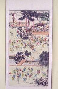 Pergament Feng Shui cei 100 de copii ai lui Buddha