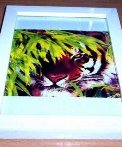 Tablou Feng Shui cu Tigrul Succesului si bambus