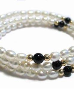 Bratara din perle de cultura pentru elementul Metal
