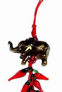 Canaf Feng Shui cu Elefantul Norocos si ardei rosii