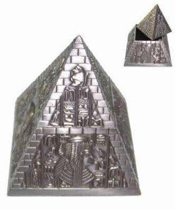 Piramida din antimoniu cu simboluri de protectie  cuprata
