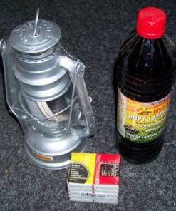Kit compus din lampa de ulei, sticla cu ulei si chibrituri