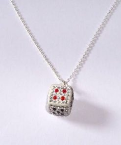 Cubul / zarul magic din argint, cu cristale Swarovski