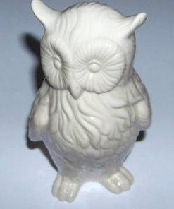 Bufnita alba din ceramica - remediu Feng Shui