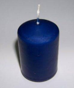 Lumanare  cilindrica - albastra