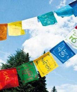 Steag cu mantra Om-Mani-Padme-Hum