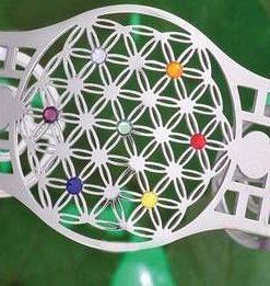 Bratara - Floarea Vietii cu cele 7 chakre, placata