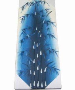 Tablou Feng Shui cu bambus, pictat manual pe panza-albastru