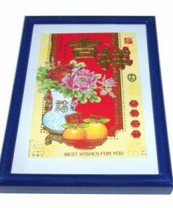 Tablou Feng Shui cu bujorii dragostei, piersicile fericirii