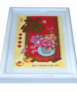 Tablou Feng Shui cu ideograma norocului, simbolul sanatatii