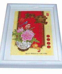 Tablou Feng Shui cu ideograme de bun augur