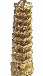 Pagoda din metal cu 9 nivele din metal vintage