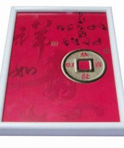 Tablou Feng Shui cu moneda si cele 12 semne zodiacale