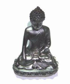 Buddha Tamaduitorul de culoare argintie, din rasina