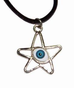 Pentagrama magica cu Ochiul lui Horus, din metal nobil