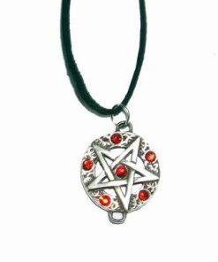 Pentagrama magica cu 6 cristale rosii