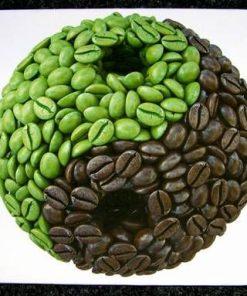 Tablou Feng Shui cu Yin-Yang din boabe de cafea