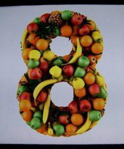 Tablou Feng Shui cu cifra 8 si fructe