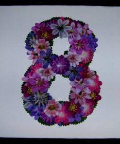 Tablou Feng Shui cu cifra 8 si florile sanatatii