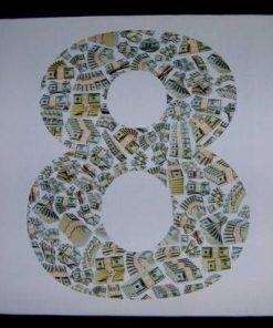 Tablou Feng Shui cu cifra 8 si dolari