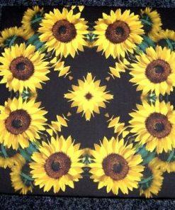 Tablou Feng Shui cu 8 flori de floarea soarelui