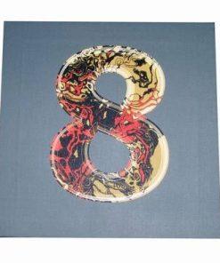 Tablou Feng Shui cu cifra 8 si sarpele stilizat