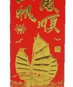 Pliculet Feng Shui cu Corabia Bogatiei