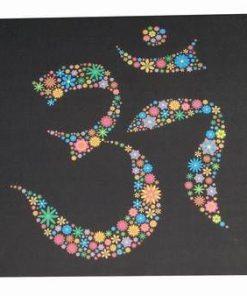 Tablou Feng Shui cu simbolul Tao/Om cu florile fericirii
