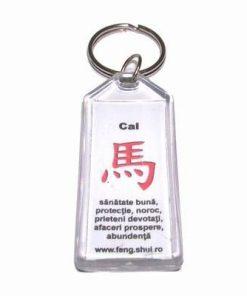 Breloc Feng Shui pentru zodia Cal - alb