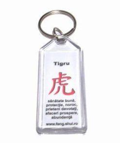 Breloc Feng Shui pentru zodia Tigru - alb
