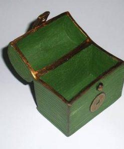 Cufarul Bogatiei cu moneda Feng Shui pentru elementul Lemn