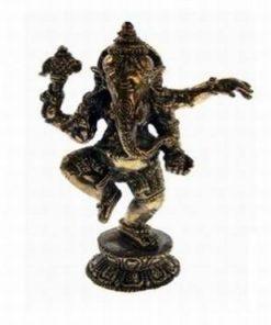 Ganesha dansand - statuie din alama - medie