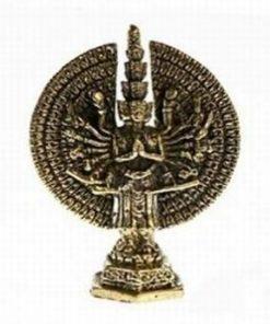 Buddha compasiunii - Chenrezig - ministatuie din alama
