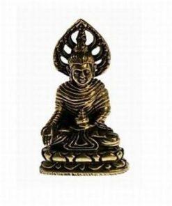 Buddha cu Stupa ofrandei - ministatuie din alama